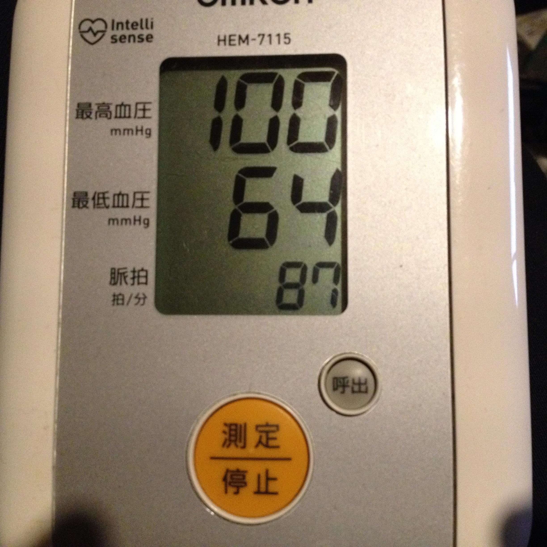 25日夜の血圧