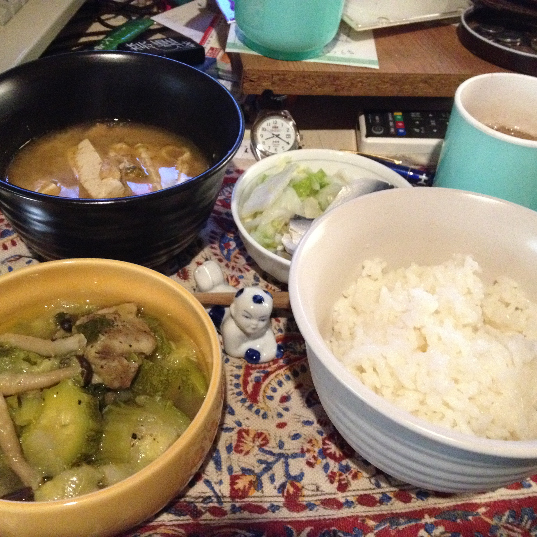 鶏とズッキーニとブナシメジの炊き定食