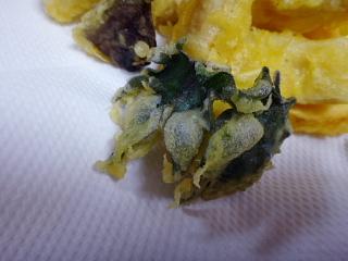 棉の葉の天ぷら