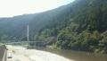 鮎釣りのつり橋
