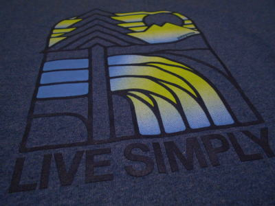 Live Simply Landscape Tee 02