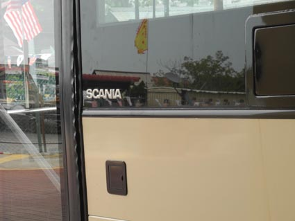 24スカニアに乗って市内観光