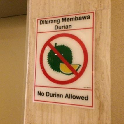 45至る所で目にするドリアン禁止