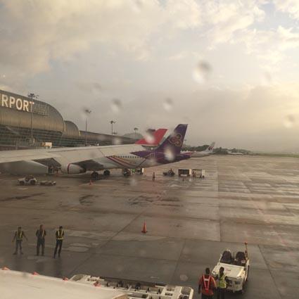 47ペナン空港はあめだった