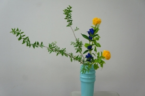 ユキヤナギ・鶏頭・竜胆 傾斜型