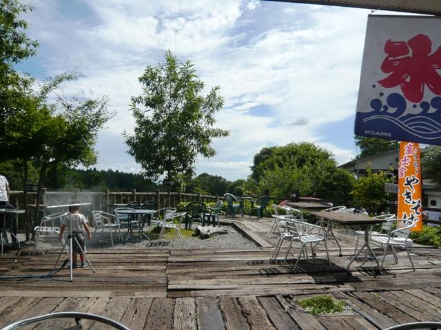 白糸の滝:CAFE MIFUJIYA;テラス席2