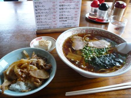 盛旺飯店:ラーメン・ミニ焼肉丼セット