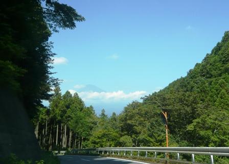 雲上かき氷:途中の富士山
