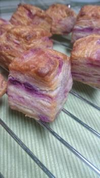 20160411紫芋スコーンレーズン酵母