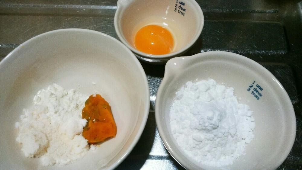 ハロウィンかぼちゃボーロの作り方1