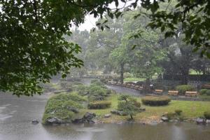 Tokyo Park in The Rain