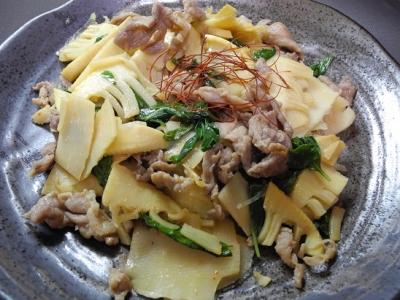 20160827ラオス筍と豚肉バジル炒め
