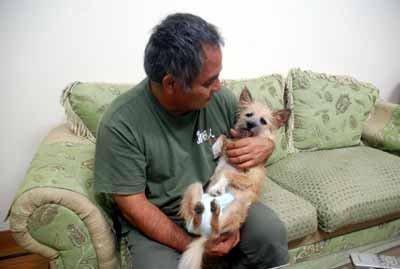 愛犬物語、愛犬サンシンちゃん