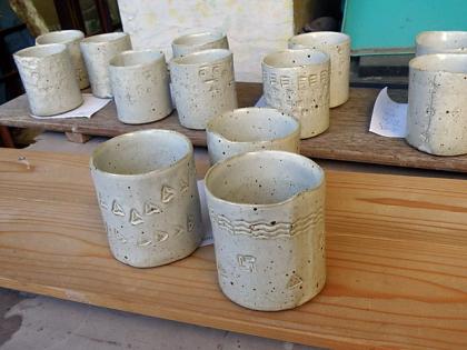 2016「親子で陶芸体験」作品完成1