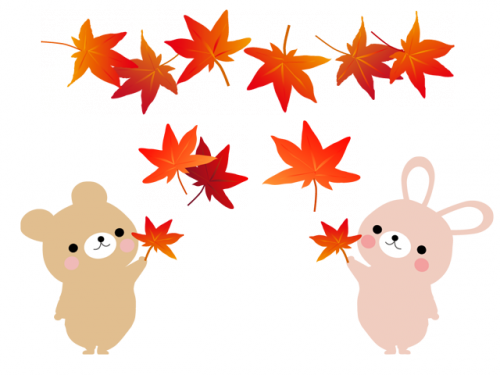 free-illustration-maple-rabit-bears.png