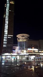 20151230高松駅夜景(その1)