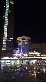 20151230高松駅夜景(その2)