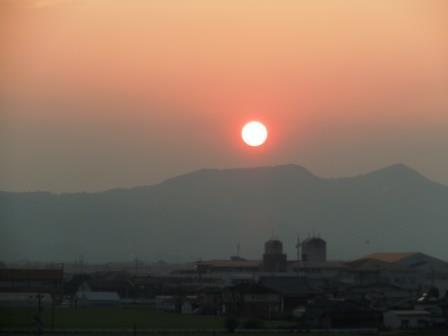 佐賀の夕日2〈2016-08-12)