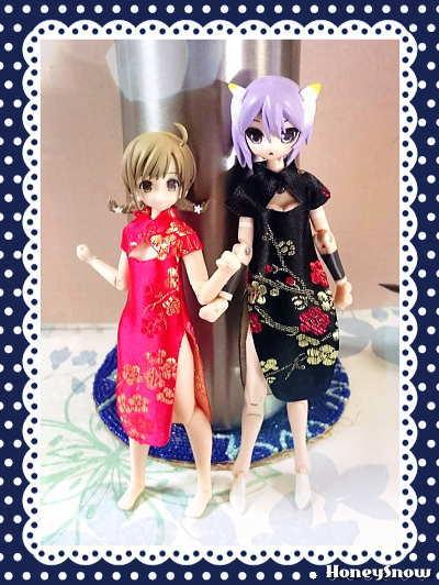 【試作】チャイナ服(ワンピ) 武装神姫、ピコニーモ(アサルトリリィ、カスタムリリィ)