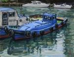 青いタグボート