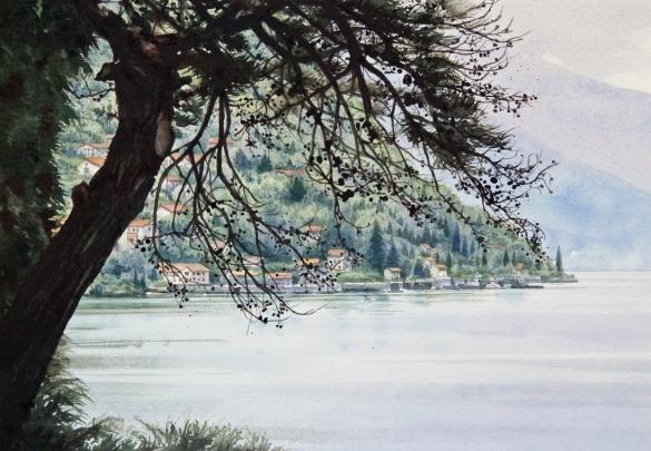 昼下がりの湖面