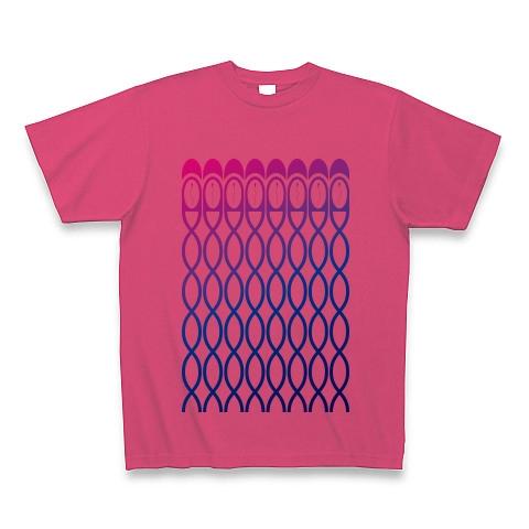 精子カプセル-Magenta&Blue Tシャツ