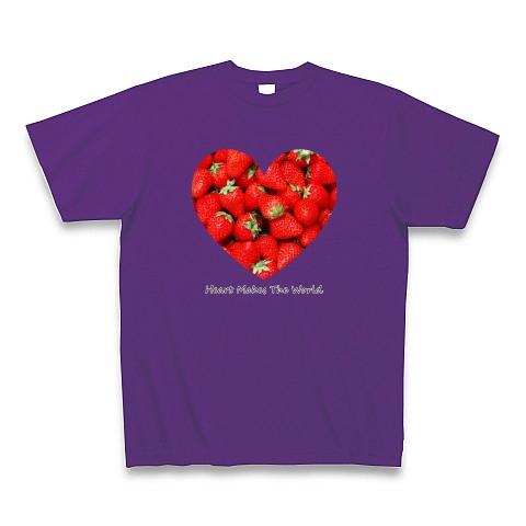 ストロベリー(いちご)ハート Tシャツ