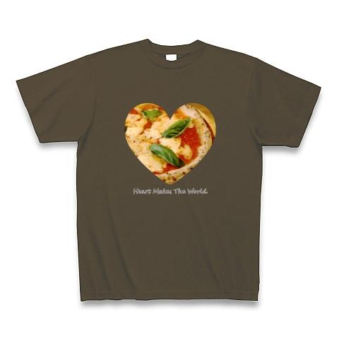 ピザ(マルゲリータ)ハート 01 Tシャツ