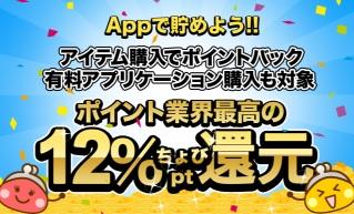 ちょびリッチ App 6%還元