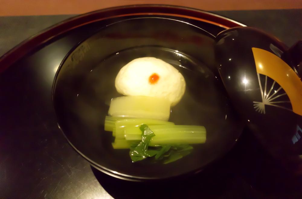 真薯と冬瓜のお吸い物