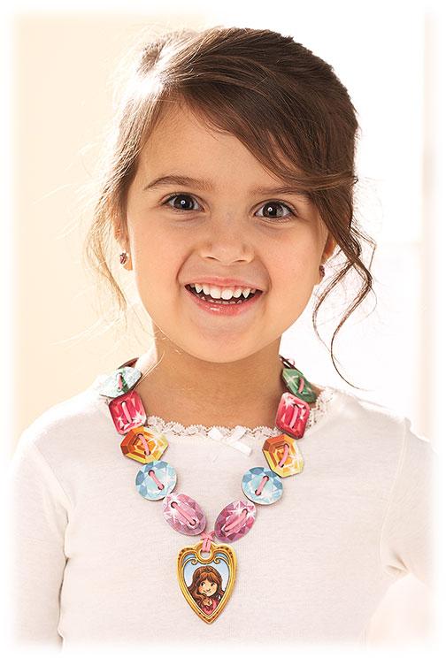 プリンセス・ミーナのキラキラ首飾り:装着