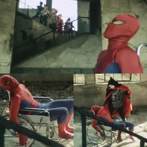 スパイダーマン アメコミ 和製 ヒーロー やられ ピンチ