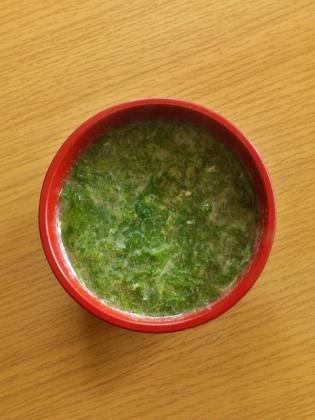 のりと玉子のスープ
