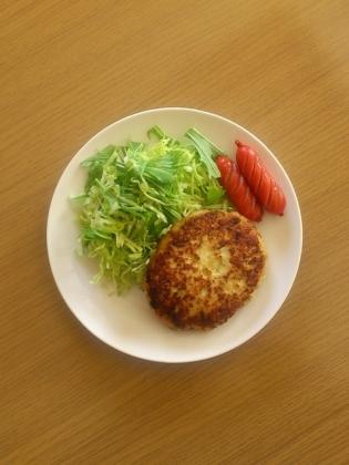 鶏と豆腐のハンバーグ