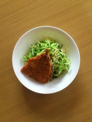 サラダ&アジフライ