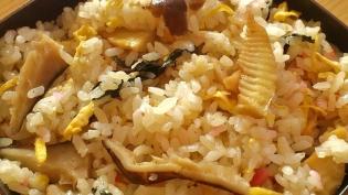 筍と椎茸のちらし3