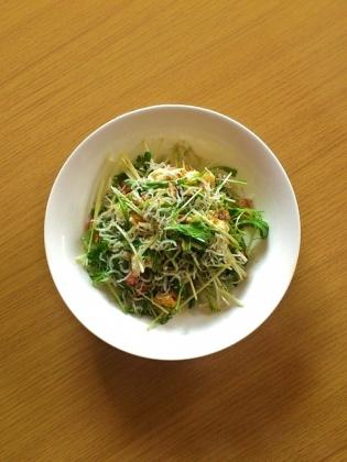 サラダ(みじん切りベーコン&シラス)