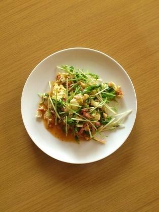 サラダ(みじん切りベーコン&タラコソース)