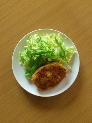 鶏ムネと豆腐のハンバーグ