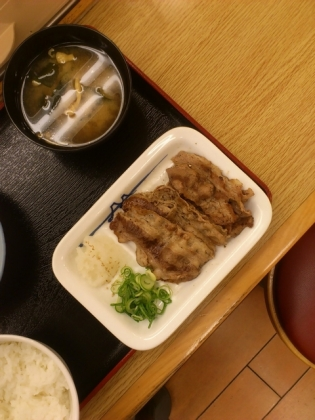 松屋牛焼肉定食3