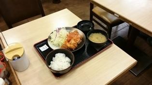 松乃家ワンコインチーズトマトささみかつ定食3
