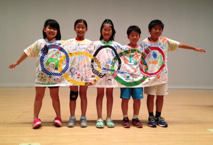 7/4(sun)olympic tee shrt完成〜♪子供とあんまり身・・・