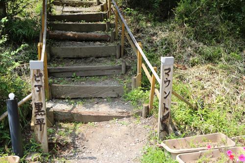 マウントピア黒平総合案内施設施設への階段