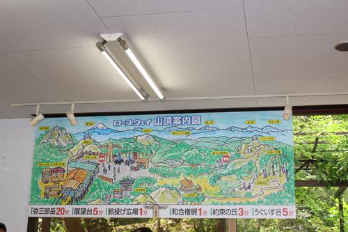 昇仙峡ロープウエイ山頂のご案内