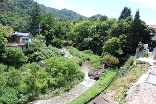 昇仙峡の玄関口 長瀞橋 下を撮影