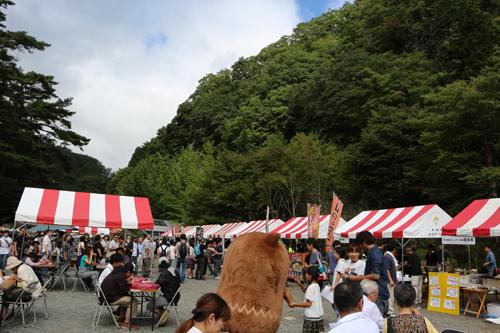 第7回昇仙峡ほうとう祭り  やはたいぬ (1)