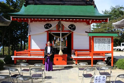 201210116 昇仙峡ロープウェイ山頂八雲神社例大祭 (1)