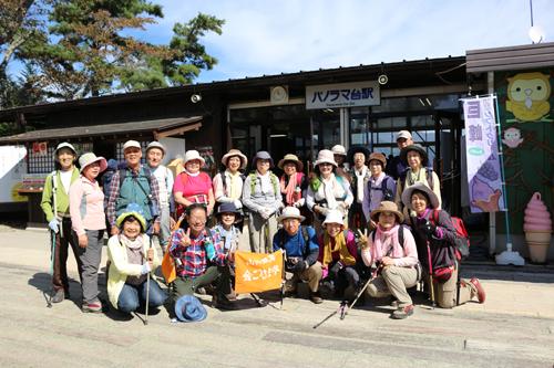 201210116昇仙峡ロープウェイ登山客