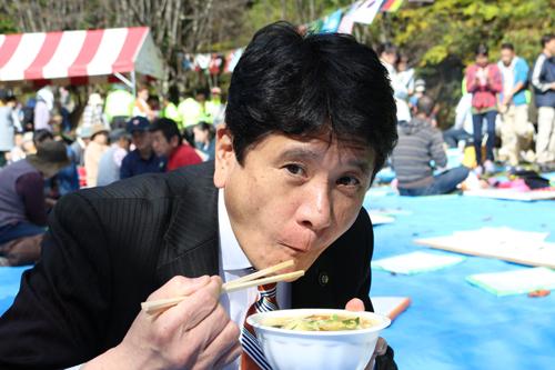 第26回黒平ほうとう祭り甲府市長 樋口 雄一様