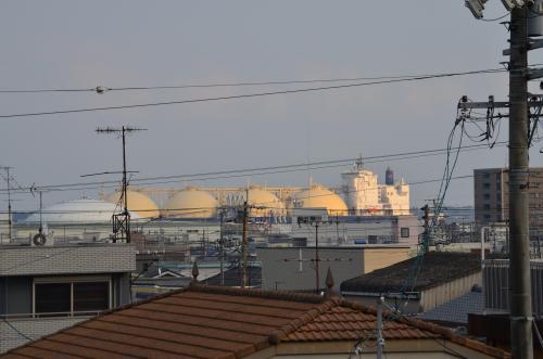 入港中のLNGタンカー